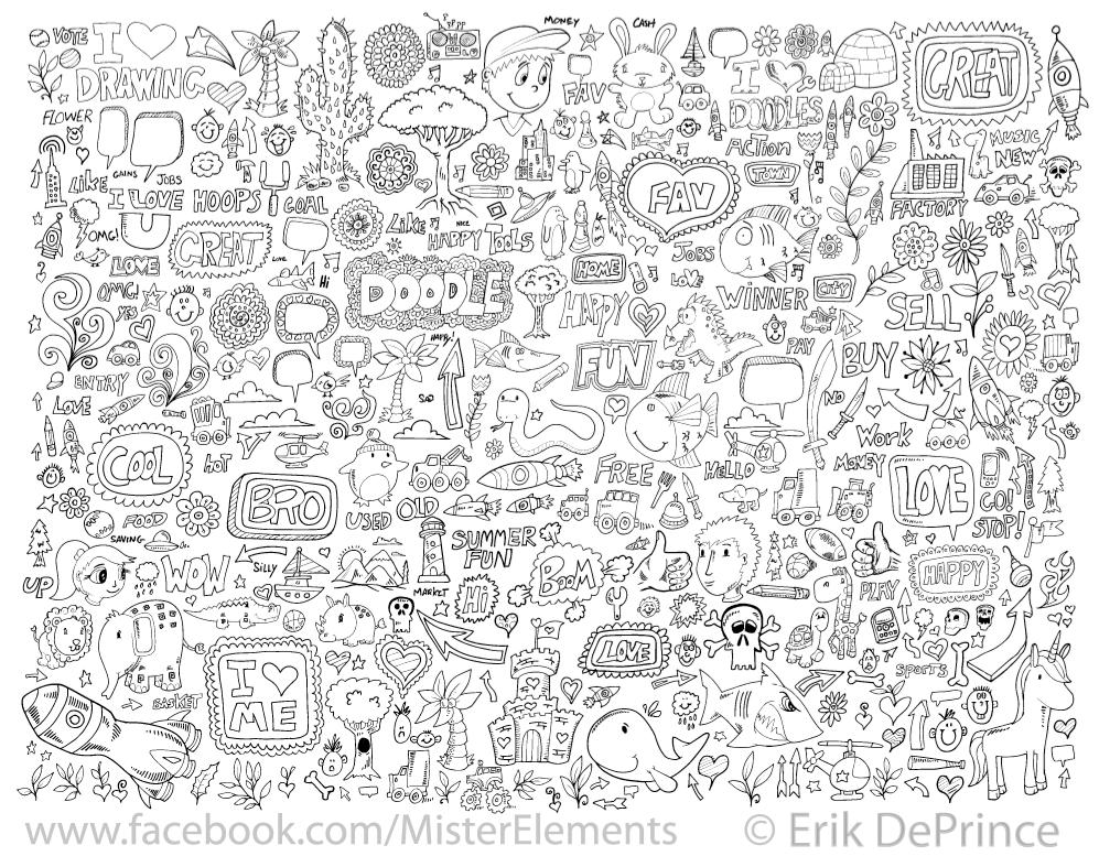 Finished a new cute doodle set! by ErikDePrince on DeviantArt