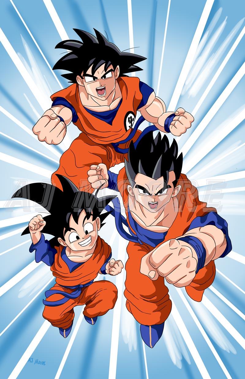 Goku, Gohan, Goten, Dragonball Z by GudFit on DeviantArt