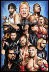 WWE 2015 - by - Artist AJ Moore by GudFit