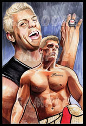 Cody Rhodes - Artist AJ Moore by GudFit