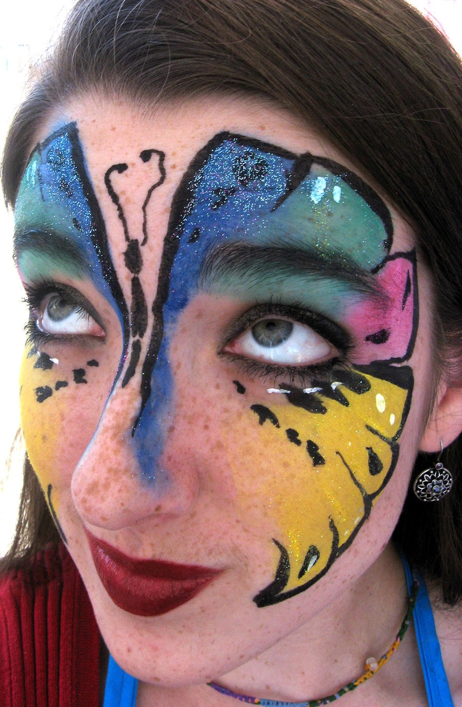 Bright Butterfly Face Paint... by lygicaphisalogue