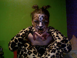 Leopard Face Paint Costume... by lygicaphisalogue