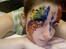 Swirly Butterfly Face Paint... by lygicaphisalogue