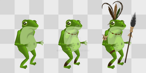 Tribal Frog (Humanized Animal | Sideview)