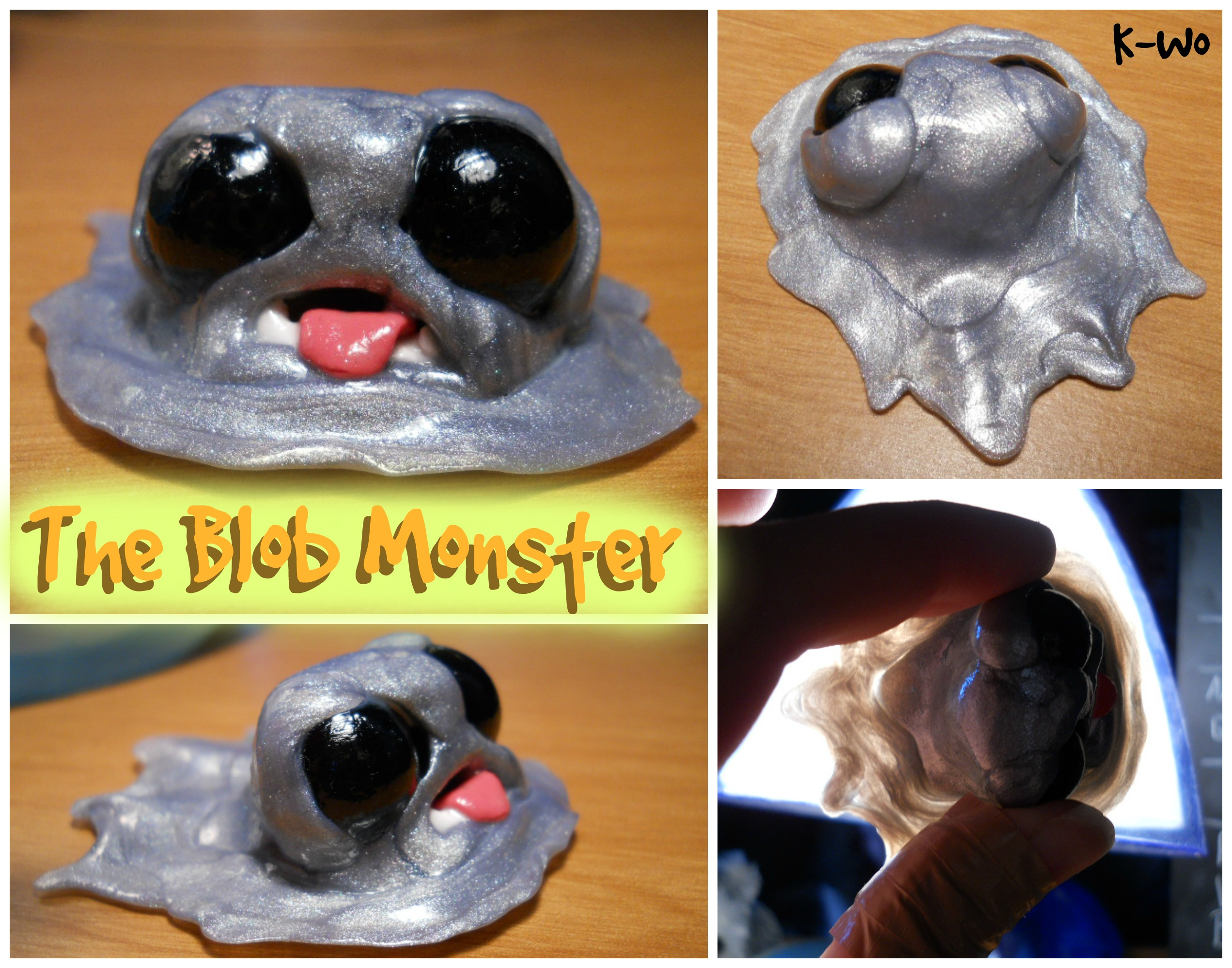 The Blob Monster Polymer Clay Sculpture By Thedizzydruid