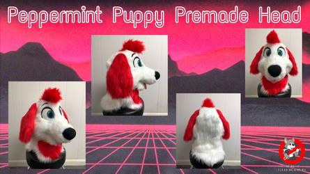 Peppermint Puppy Fursuit Head