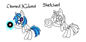 Vinyl Scratch Before and After Pic