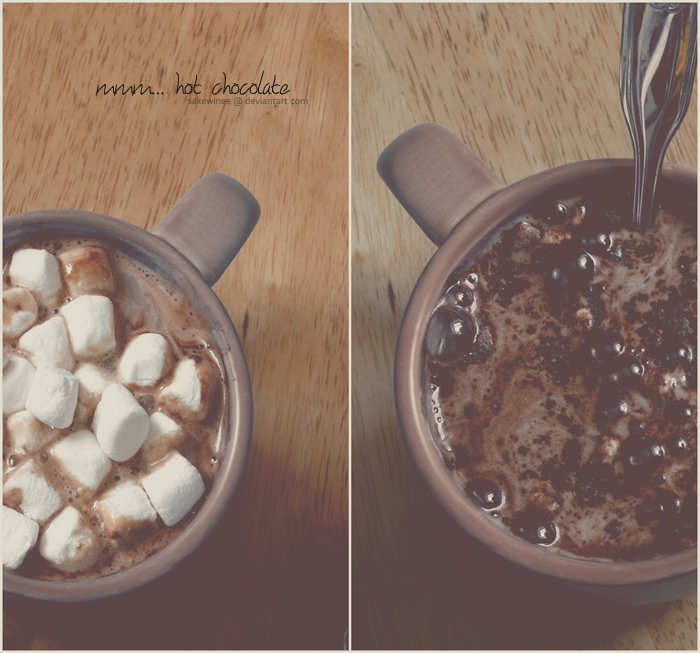 mmm... hot chocolate by sakewinee