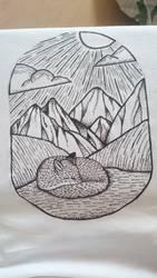 Sleeping fox by AnyaVin