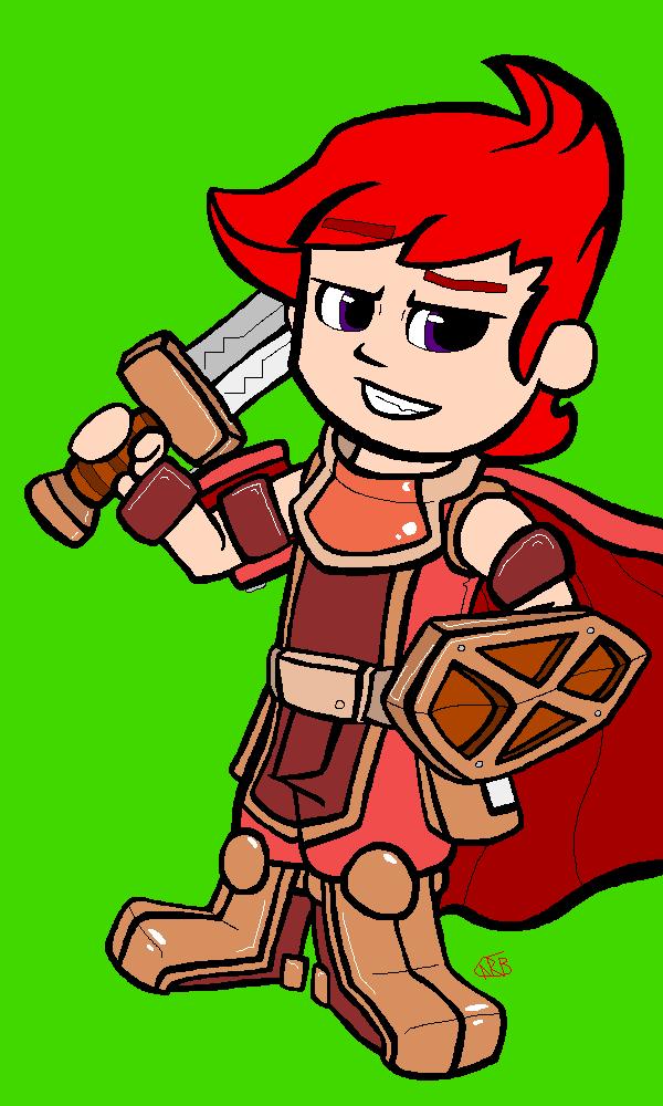 Day 13 - Dokapon Warrior by uhnevermind