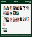 Jonghyun Korean Photocards Template