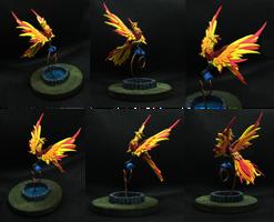 A Fire bird figurine