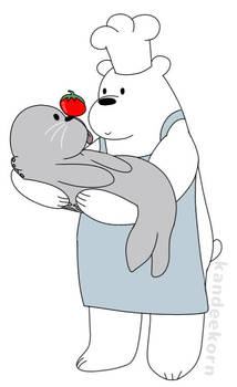 Ice Bear loves his food