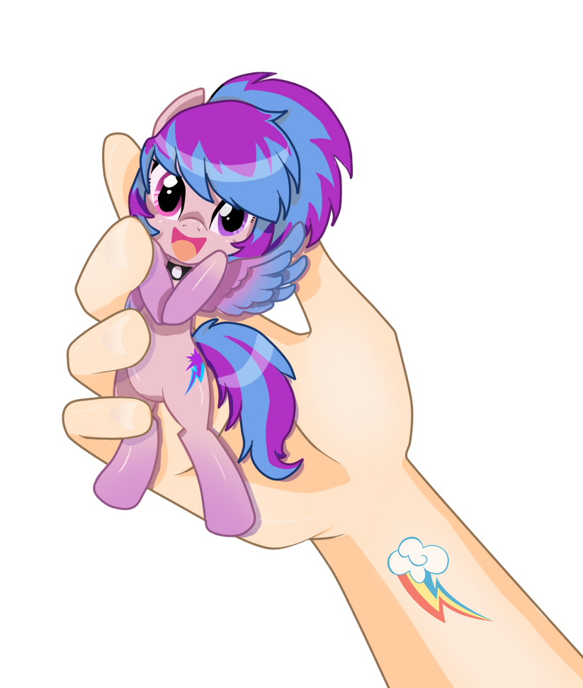 .:My little pony: Shiny Dawn hand by Airinreika