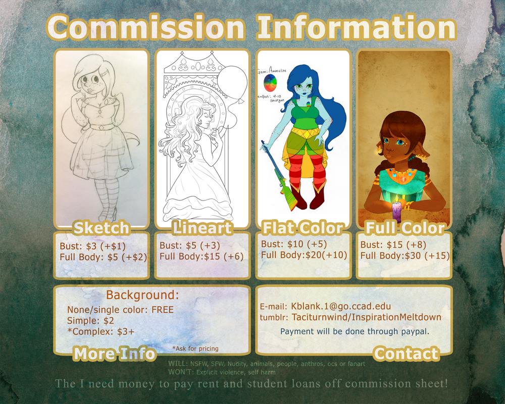 commission sheet example