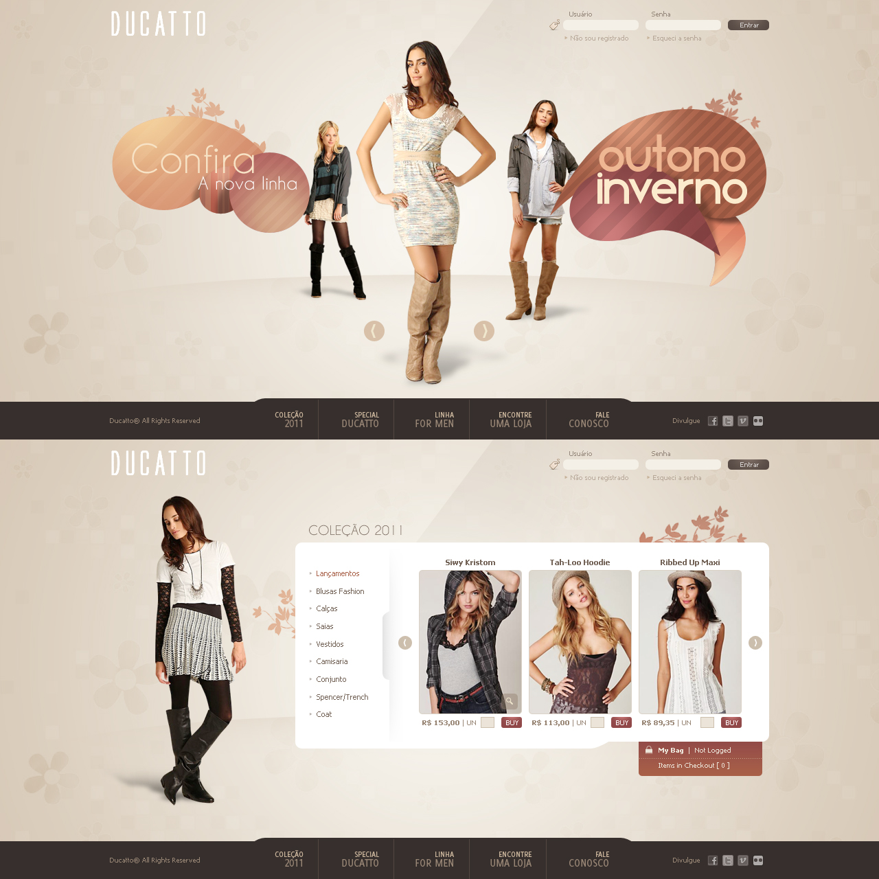 A fashion website -  Ducatto Fashion Website By Robot H3ro