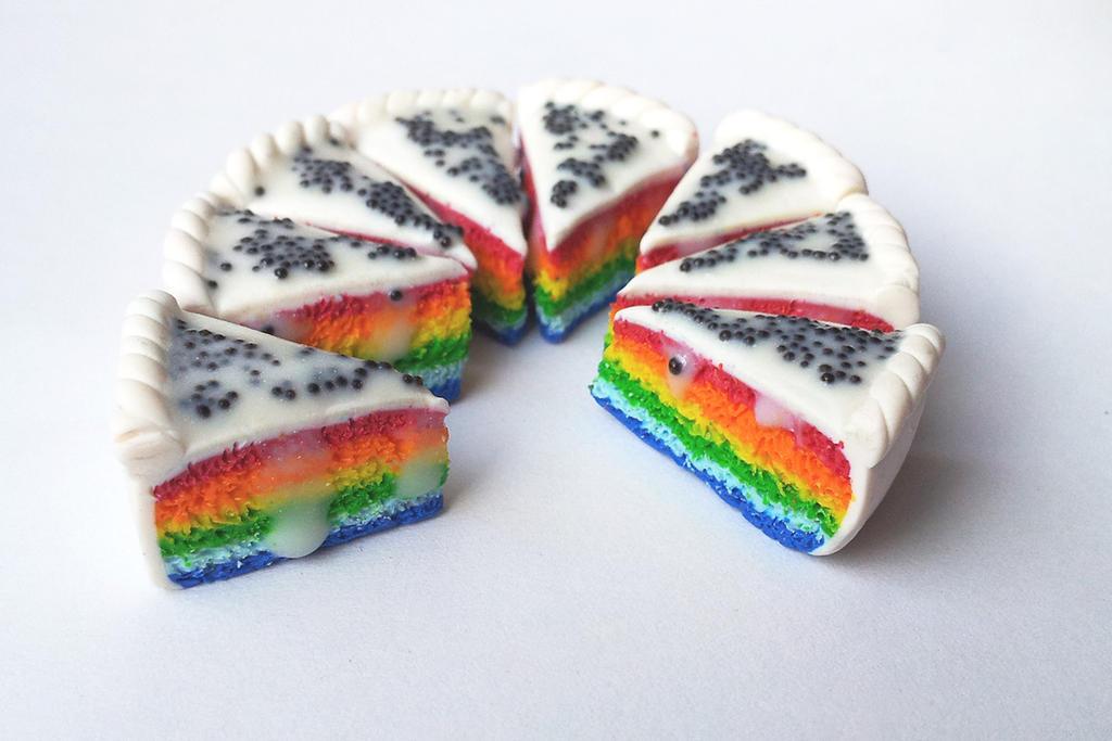 Rainbow fancy cake by theKuki