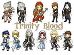 My trinity Blood Key ring