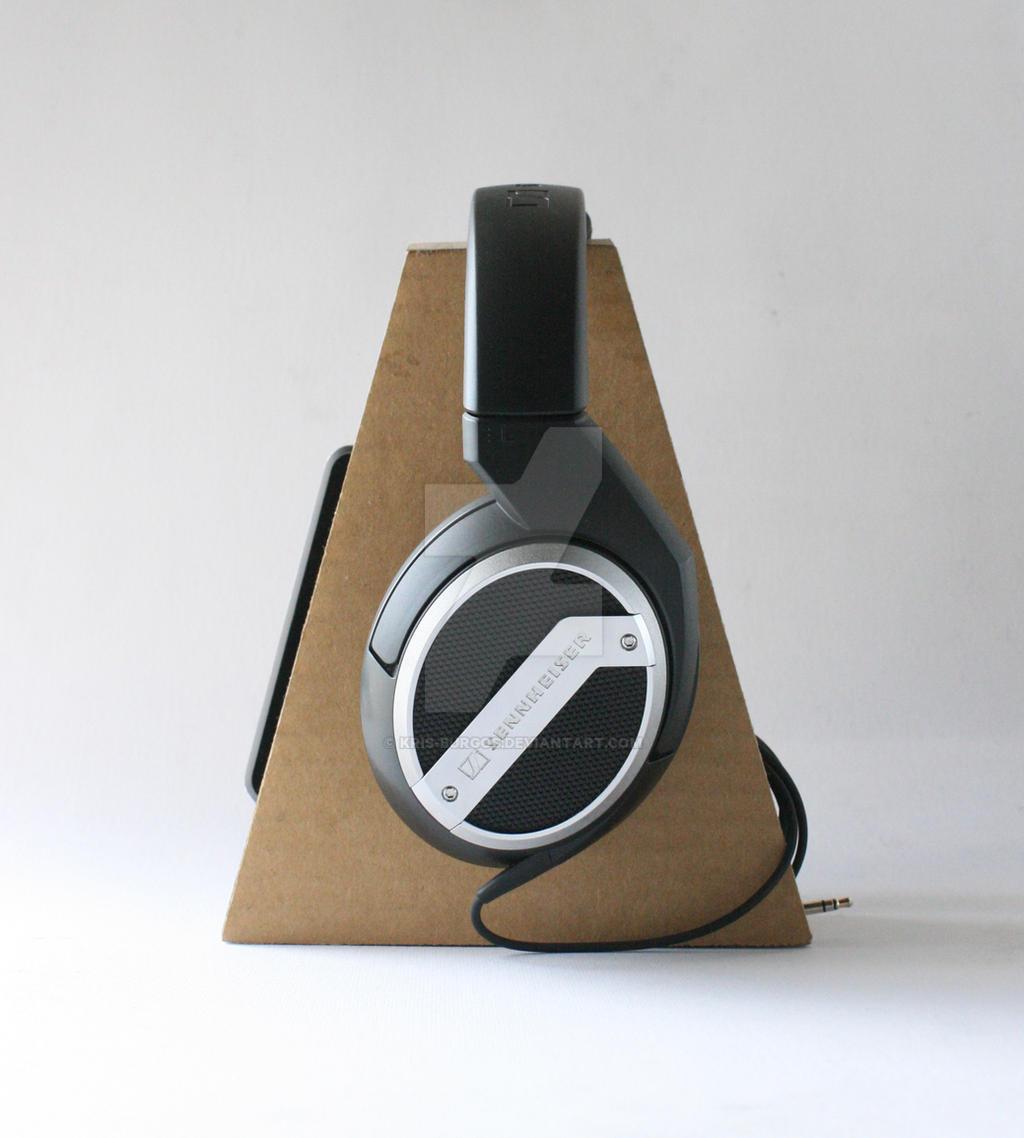 Headphone Stand Designs : Cardboard headphone stand by kris burgos on deviantart