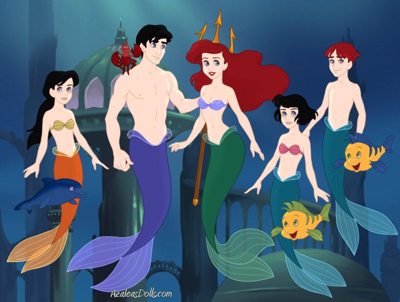 Little Mermaid Eric Ariel Melody Twins By Tensaisaiyan On Deviantart