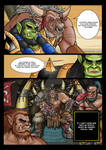 Warcraft 3 Comicbook - Thrall Vs. Grom Hellscream by Gelorum