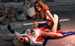 Nuclear Girl tortures Power Girl