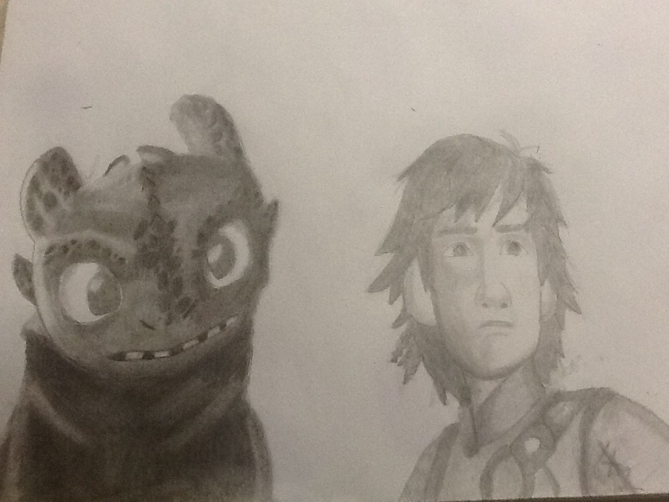 Hiccup and Toothless by riotgirlckb