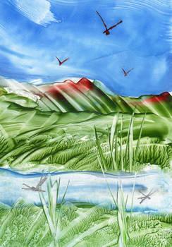 Encaustic art 33 - River