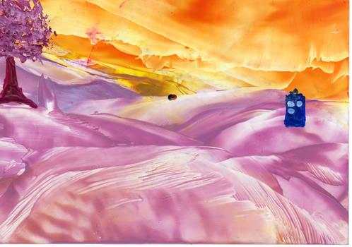 The TARDIS on Estica