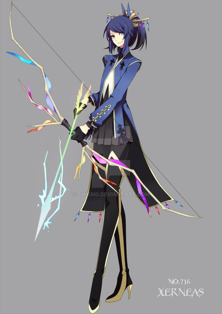 Pokemon: Human Xerneas by Chieri0 on DeviantArt