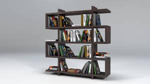 Bookshelf With Books by CreativeLocker