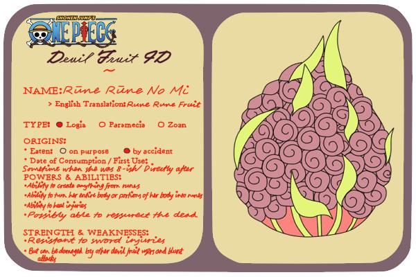 fruit names devil fruits