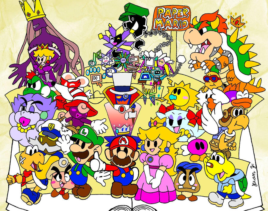 Mario Sticker Star Coloring Pages