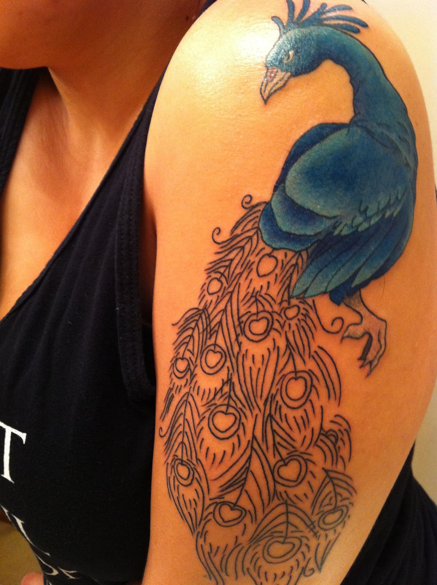 Peacock Tattoo by leisaysthis