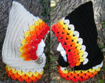 'Girl on Fire' inspired Dragon Scale Hoods