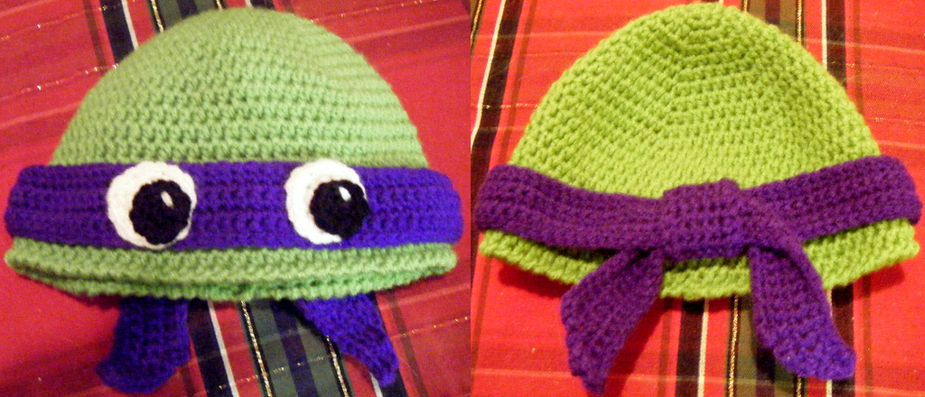 Teenage Mutant Ninja Turtle Hat Crocheted By Arexandria On Deviantart