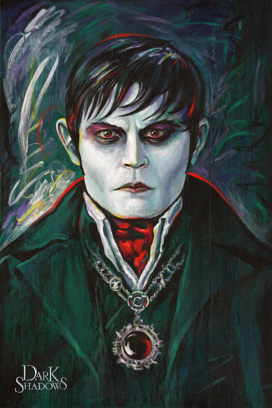 Depp as Barnabas by 2B-inspired