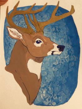 Buck with Golden Antlers