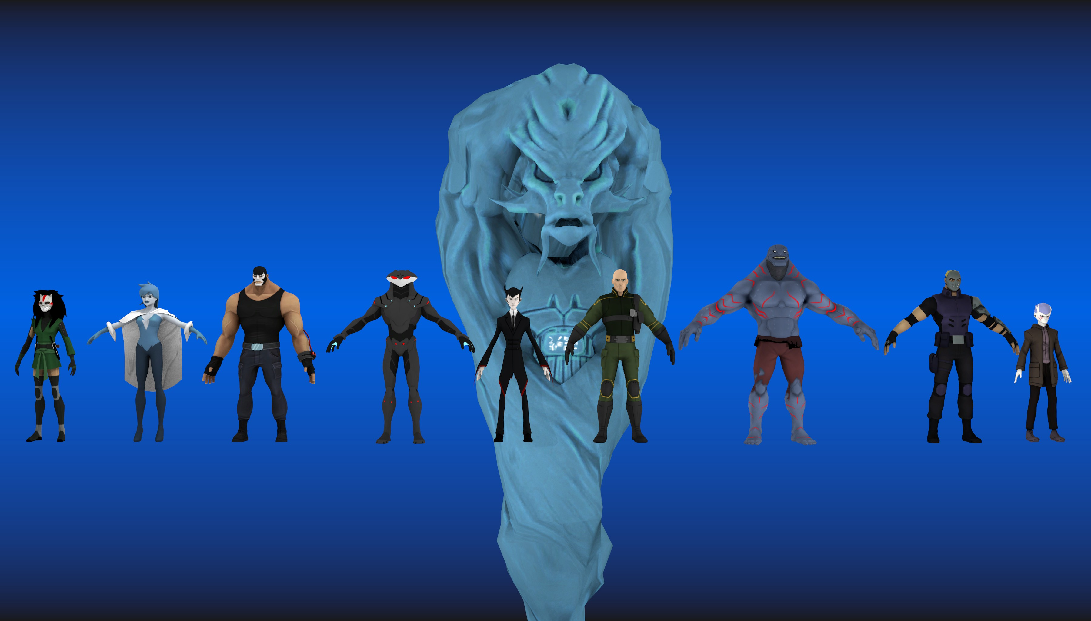 Young justice legacy all 3d models by funcohd on deviantart for Deviantart 3d models