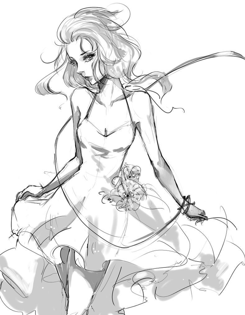 Dance for Me -sketch- by bluesaga331