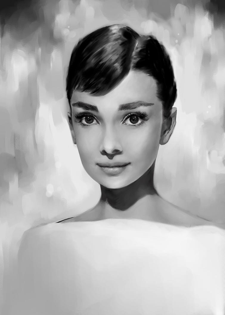 Audrey Hepburn by bluesaga331