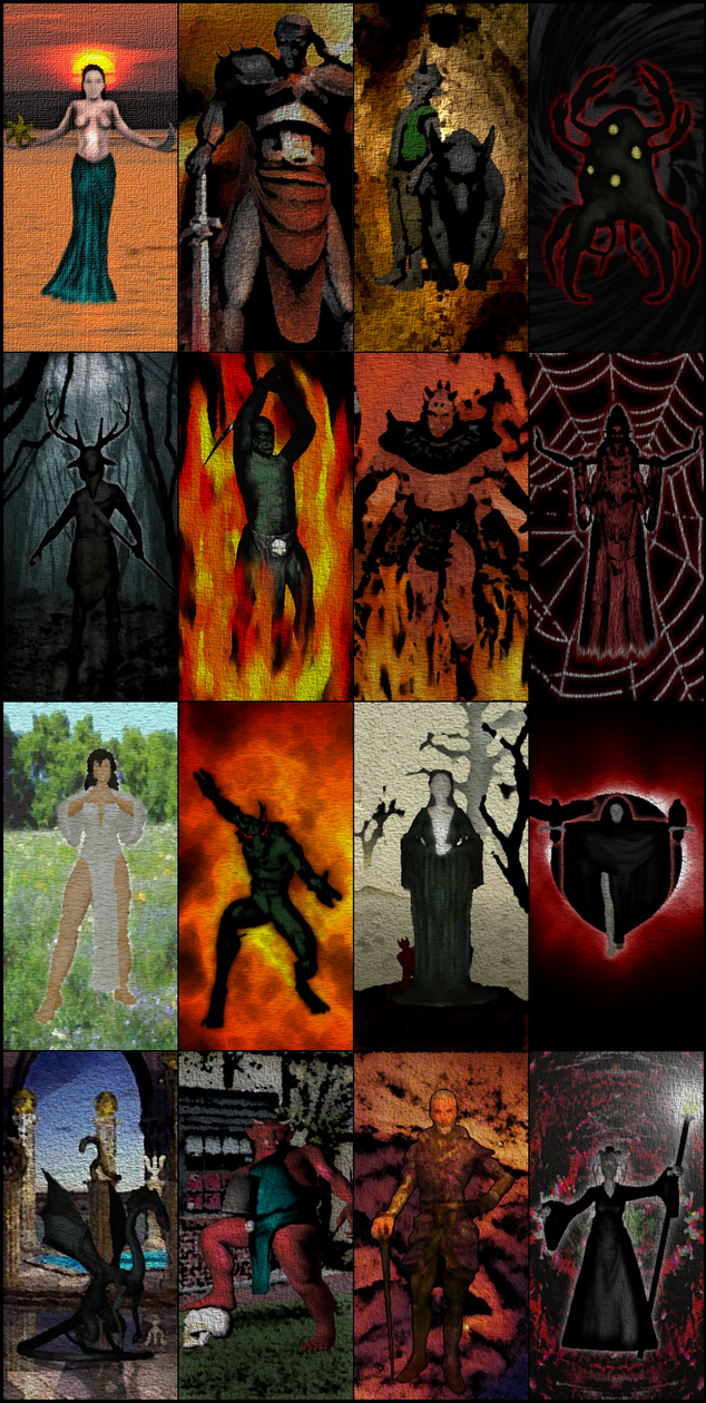 The Daedra Lord Tapestries by RavengerX on DeviantArt