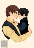Dad Solo and Baby Ben by M-ariazell