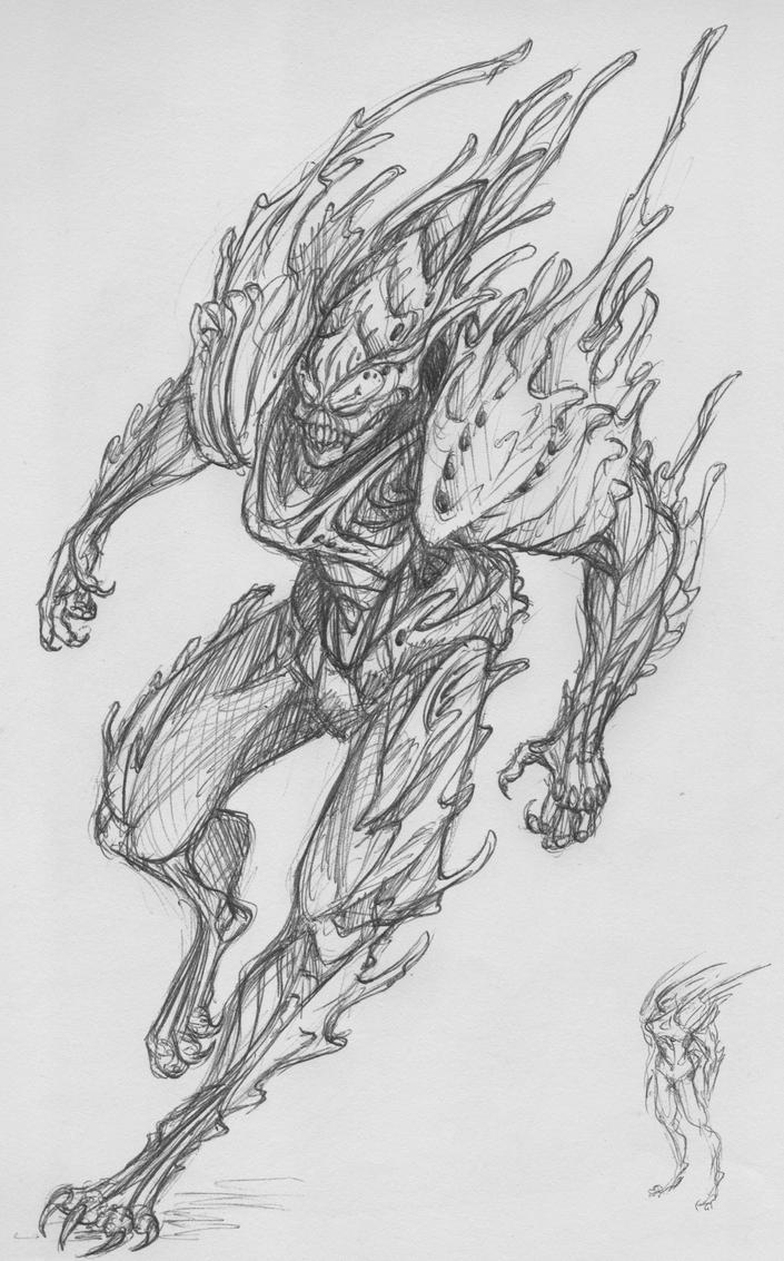 Alien of Sorts (Ballpoint Pen) by MoondayBlue
