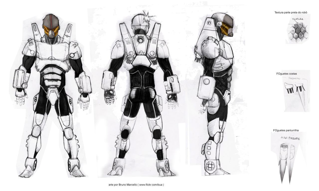 Robot Concept Art For A Game By Bua On Deviantart