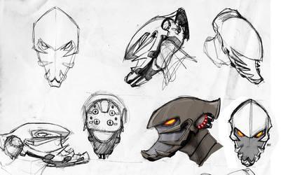 robot head by bua