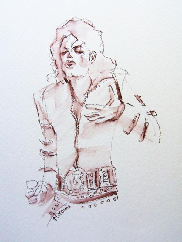 M J Sketch Images Michael Jackson Bad sketch by