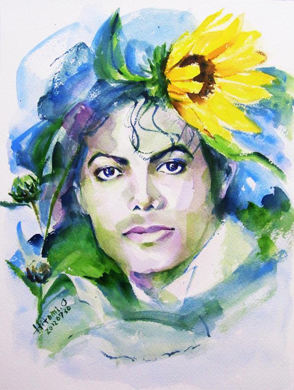 Disegni Buffi o meno :) - Pagina 10 Michael_jackson_sunflowers_in_the_sky_by_hitomiosanai-d5a0wqx