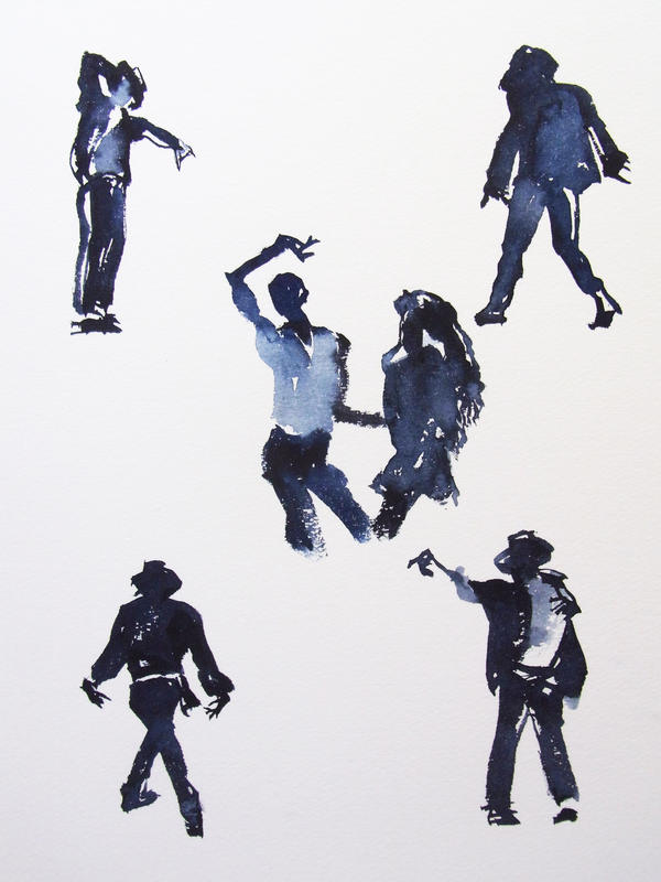 Michael Jackson Silhouette by HitomiOsanai