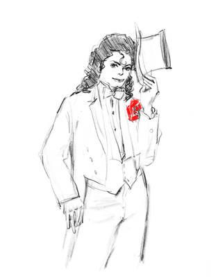 Michael Jackson drawing by HitomiOsanai